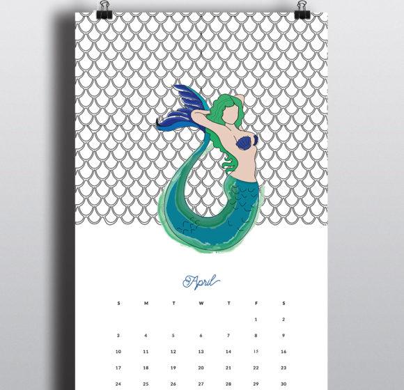 Mermaid Calendar Series