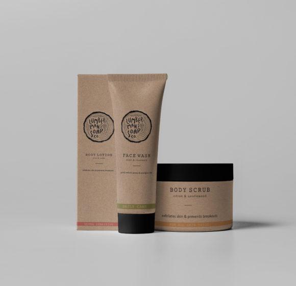 Lumbermans Soap Company Branding & Packing